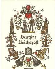 """GERMANY RARE """"DEUTSCHE REICHSPOST"""" TELEGRAM COLOUR FOLDERS 12""""X8"""" COLLECTION"""