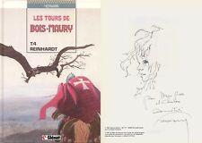EO HERMANN + SUPERBE DESSIN ORIGINAL : REINHARDT ( TOURS DE BOIS-MAURY N° 4 )