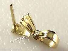 18K Yellow Gold Pendant Clasp Hook / Middle Size