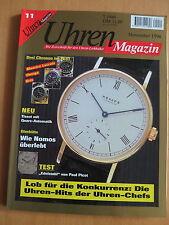 Uhren-Magazin Nr. 11 1996 - Uhren Zeitschrift, Uhrenheft, Magazin