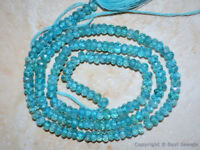 "Micro Faceted APATITE 3.5/4/4.5mm Rondelle Beads 13.5"" Str A++ (Select-A-Size)"