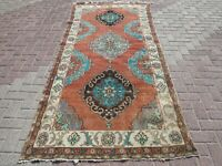 """Anatolian Turkish Vintage Rug Double Knotted Wool Carpet 51,1""""X112,5"""" Area Rugs"""