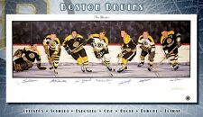 BOSTON BRUINS NHL ORIGINAL SIX LIMITED EDITION AUTOGRAPHED LITHO W/COA BOBBY ORR