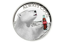 2019 Coca-Cola Polar Bear Coin 1oz Silver Proof $1 Legal Tender Fiji
