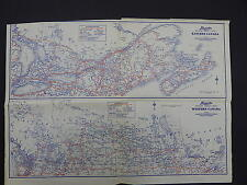 Eastern Western Canada Maps Motor Club 1930's Langwith's R9#83
