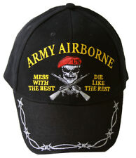 Army Airbourne Military Mess with the Best, Die like the Rest Buckle Hat