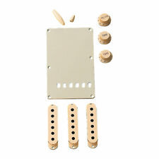 Fender Stratocaster Accessory Kit w/ Pickup Covers, Knobs & Back Plate (Aged Wh…