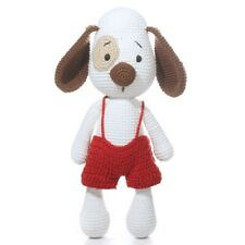 Imajo Adorable Crochet Sitting Dog Noel With Red Trousers Suitable For All Ages