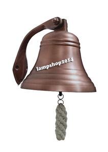 """6""""Nautical Door Bell Hanging Marine Calling Marine Nautical Wheel Ship Bell"""