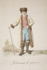 BOHEMIEN DE PRAGUES GRAVURE COULEURS GRASSET SAINT SAUVEUR 1796