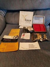 Vintage Ronson CFL Electric Shaver with Super-Trim in original box and papers