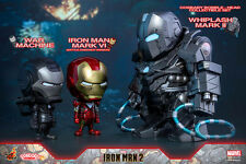 Hot Toys Avengers Cosbaby Iron Man Mark VI War Machine Whiplash Mark II Figure