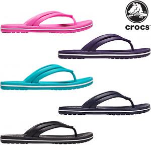 Crocs Crocband Flip Damen Schuhe Sandale Zehentrenner Badeschuhe