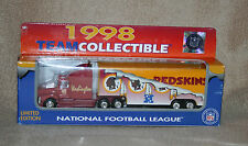 Die Cast 1998 NFL Team Collectible Redskins tractor trailer new in window box