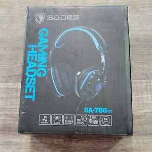 Sades SA-708GT Stereo Gaming Headphones Headset for PS4/PC/Laptop/Xbox 360