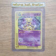 GOOD Condition Alakazam 1/165 Holo/Shiny Pokemon Card, Aquapolis, Rare
