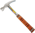 Straight Claw Hammer Rip Smooth Face Genuine Leather Grip Home Hand Tools 16 Oz