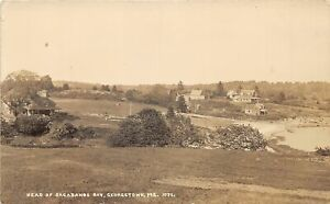 H41/ Georgetown Maine RPPC Postcard c30s Head of Sagadahog Bay