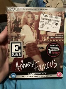 Almost Famous Cine Edition 4K HMV UK Exclusive THEATRICAL Ultra HD Blu-ray OOP
