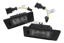 2x Original Audi LED Kennzeichenbeleuchtung + Anschluss Adapter Kabel SET #8K