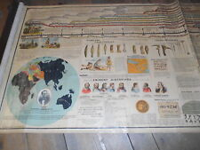 Ext. Rare 1800's Chronological Biblical Wall Chart By Sebastian C. Adams