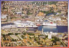 AK, Kiel, Luftbild-Teilansicht mit Passagierschiffen und Fähren, 2006