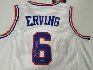 Julius Erving Signed Autographed 76ers Jersey Mounted Memories COA