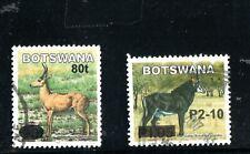 2006 Botswana  emergency overprint animal set of 2 FU