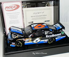 """2012 Ricky Stenhouse Jr. #6 Ford Ecoboost 1/24 Scale """"Autographed"""" ELITE Diecast"""