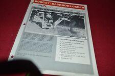 Bobcat Skid Loader Backhoe Loader Attachment For 1977 Dealers Brochure DCPA2