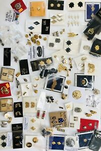 Large Mixed Lot US Military Insignia Medals Ribbons Pins Buttons Boards