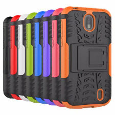 for Nokia 1 Case, Shockproof Armor Hybrid Kickstand Protective Phone Cover