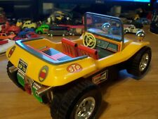TIN 60's  vintage  toy  NO-FALL vw  buggy> TAIYO  / RARE > top-less & WORKING...