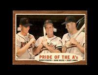 1962 Topps Baseball #127 Pride Of the A's (Siebern Bauer Lumpe) NM  #AAB123