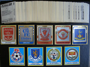 *** Panini Football 88 Complete Sticker Set ( 1988 ) ***