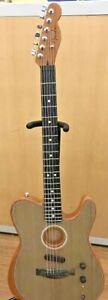 FENDER USA Acoustic Electric Guitar ACOUSTASONIC TELE BK #9512