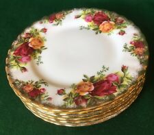 6 x TEA SIDE PLATES ROYAL ALBERT OLD COUNTRY ROSES ENGLISH BONE CHINA EXCELLENT
