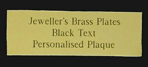 Jewellers Brass Plate Engraved Frame with Black Text