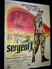 SERGENT X   christian marquand affiche cinema  1960