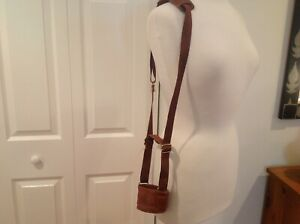 1996 COACH USA Olympic Games Sable Brown Leather Water Bottle Holder Carrier