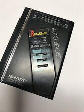 Vintage Rechargeable Sharp Auto Reverse AM FM Cassette Player Walkman Equalizer