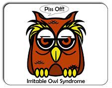 Irritable Owl Syndrome Mouse Mat, Mousepad,