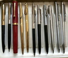 Large Collection of 11 Vintage Ballpoints Includes Sheaffer, Parker, Papermate