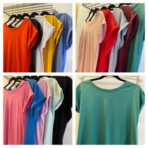NEXT Ladies Cap Sleeve Tshirts 14 Colours Sizes 6-26 Brand New
