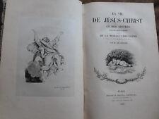 VIE DE JESUS CHRIST & DES APOTRES...MORALE CHRETIENNE. DE GENOUDE. 2 tomes grav.