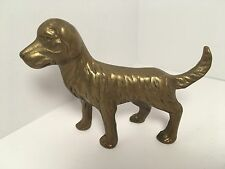 "Vintage Brass Dog Golden Retriever Labrador Figurine 4"""
