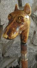Very Ornate Victorian Antique Vintage Umbrella Bone Dog Whippet or Greyhound ?