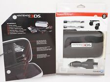 8 PC LOT - NINTENDO 3DS EXPLORER STARTER KIT BLACK CASE EAR BUDS CAR CHARGER ETC