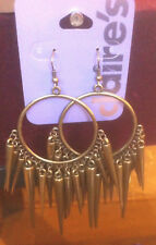 Claire's Claires Accessories Official Earrings Hoops Dangly Spikes £7 RRP