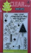 """Hero Arts """"Laughter And Joy"""" Christmas Clear Stamp Set"""